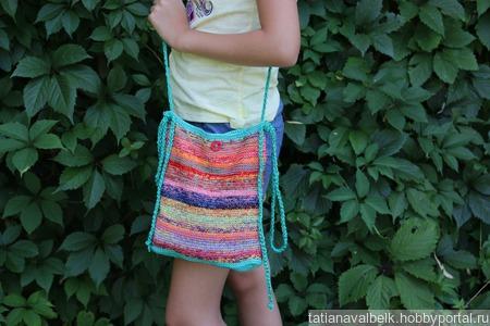 """Летняя вязаная сумка сумочка """"Цвето-терапия"""" ручной работы на заказ"""