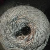 Пряжа из козьего длинноворсового пуха  ручного прядения