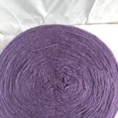 Пряжа шерстяная рассказовская цвет фиолетовый