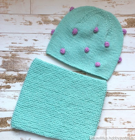 Детский комплект шапка и снуд ручной работы на заказ