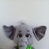 Вязаный слоник Моня