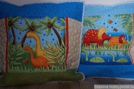 Подушки-динозаврики ручной работы на заказ