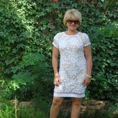 Летнее коктейльное платье, ирландское кружево