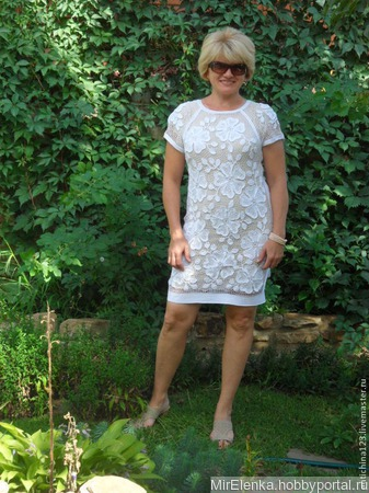 Летнее коктейльное платье, ирландское кружево ручной работы на заказ