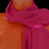 """Малиновый шифоновый палантин ручной работы  """"Ягода-малина"""" модель 1"""