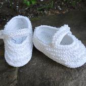 Летние белые пинетки туфельки из льна с бусинами