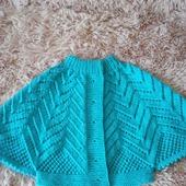 Вязаное болеро для девочки