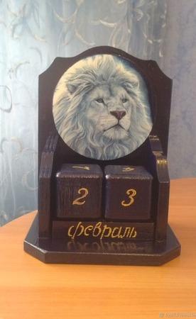 """Вечный календарь """"Ледяной Лев"""" ручной работы на заказ"""