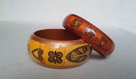 """Набор браслетов """"Африканский"""" ручной работы на заказ"""