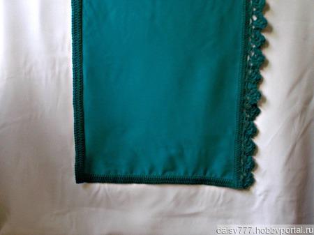 """Бирюзовый палантин ручной работы из ткани """"Морской прибой"""" модель 2 ручной работы на заказ"""