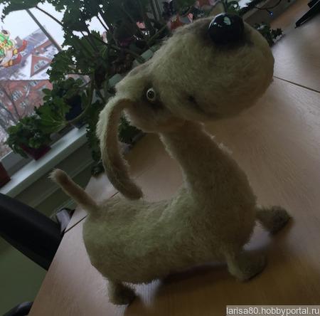 Игрушки вязаные Собачки ручной работы на заказ
