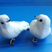 Голуби свадебные пара, на прищепках