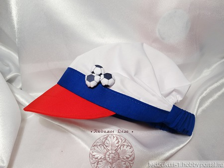 """Кепка для ребёнка """"Россия"""" ручной работы на заказ"""