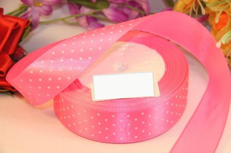 Атласная розовая в белый мелкий горох ручной работы на заказ