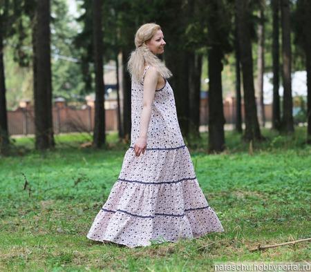 Льняное летнее платье ручной работы на заказ