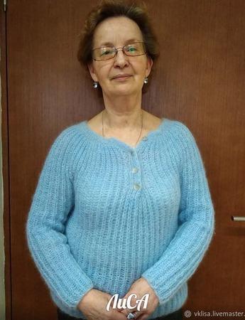 Воздушный пуловер ручной работы на заказ