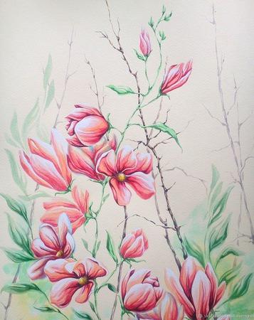 """Картина """"Новая Весна"""" ручной работы на заказ"""