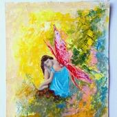 "Картина ""Волшебная фея бабочка"""