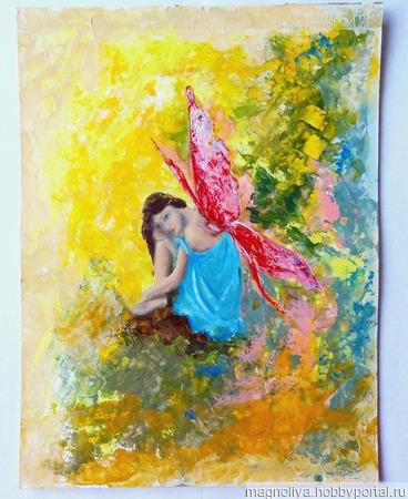"""Картина """"Волшебная фея бабочка"""" ручной работы на заказ"""