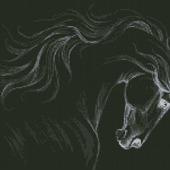 """Схема для вышивания """"Черный конь"""""""