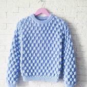 Вязаный свитер Малинки ручной работы