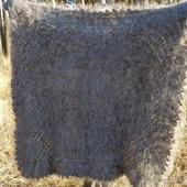 Пушистый пуховый платок ручной работы