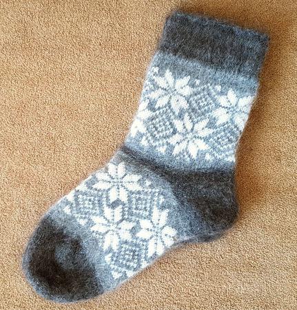 Теплые носки с рисунком ручной работы на заказ