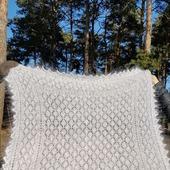 Ажурные пуховые платки ручной работы. Пушистые