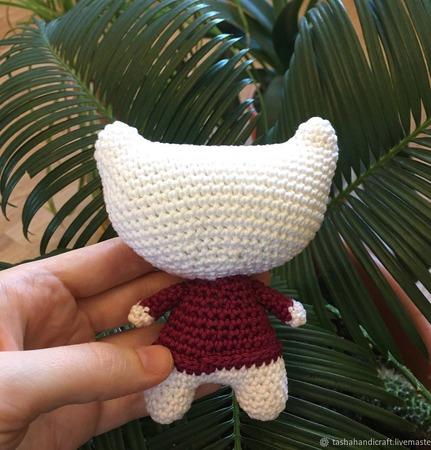 Вязанный сонный котик ручной работы на заказ