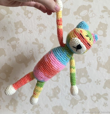 Вязаный кот Аминеко стандартный ручной работы на заказ