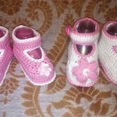 Пинетки-туфельки вязаные