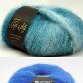 Пряжа мохер DROPS Kid-Silk uni color 75 мохер 25 шёлк