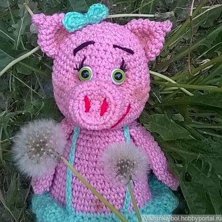 Свинка Розочка ручной работы на заказ