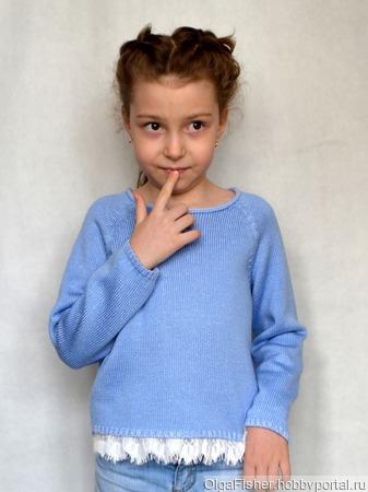 Мастер- класс Детский джемпер-реглан ручной работы на заказ