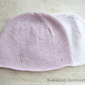 Детские шапочки из хлопка