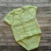 Вязаный боди из хлопка для малыша