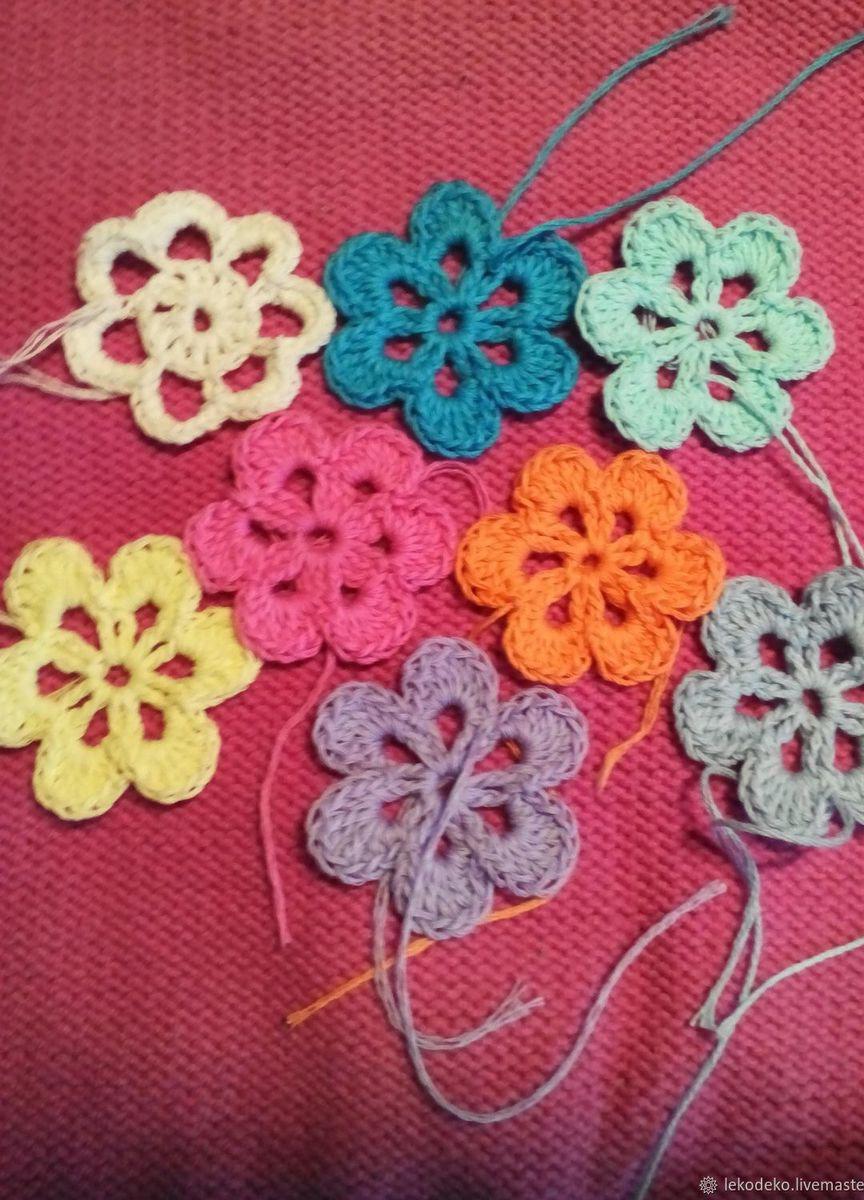 вязаные крючком цветочки купить в интернет магазине Hobbyportalru