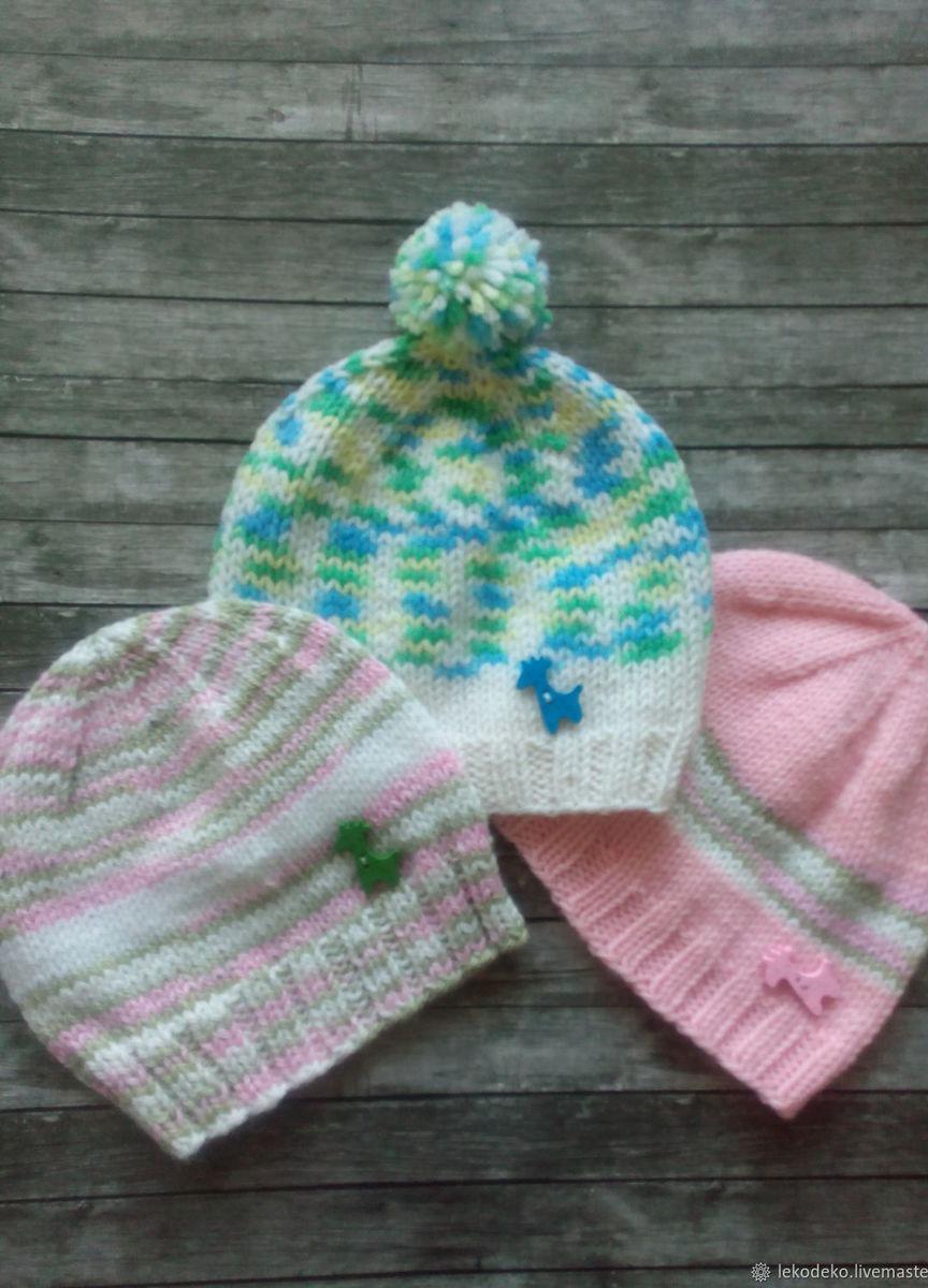 вязаные шапочки для малышей купить в интернет магазине Hobbyportal