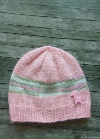 Вязаные шапочки для малышей ручной работы на заказ