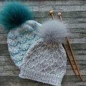 Вязаные шапочки для девочек, девушек, женщин
