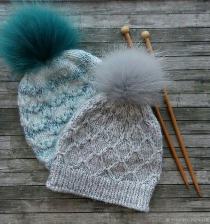 Вязаные шапочки для девочек, девушек, женщин ручной работы на заказ