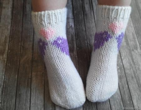 Вязаные носочки для детей ручной работы на заказ
