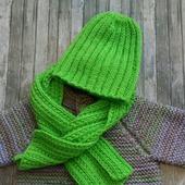 Вязаный комплект для малыша; пальто, шапка, шарф