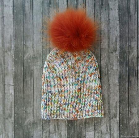 Вязаные шапочки для детей ручной работы на заказ