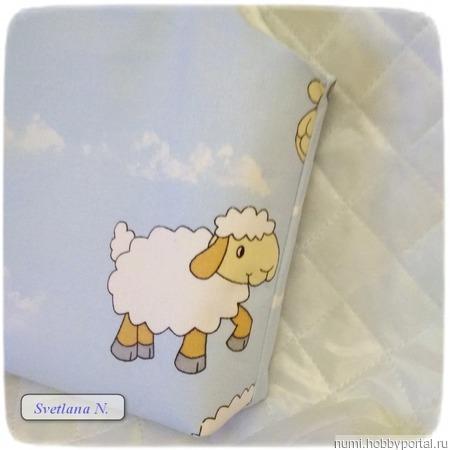 """Сумочка для рукоделия """"Веселая овечка"""" ручной работы на заказ"""