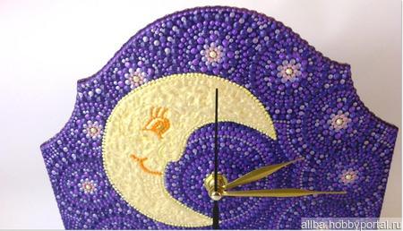 Часы настольные Друзья точечная роспись ручной работы на заказ