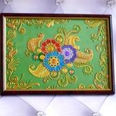 фото: Картины и панно (зеленый золотой синий)