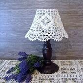 Абажур ручной работы для маленькой настольной лампы или ночника