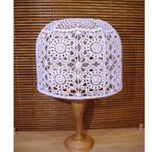 Кружевной абажур для торшера или настольной лампы, вязаный крючком