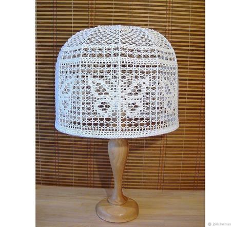 Абажур для торшера или настольной лампы, вязаный крючком ручной работы на заказ